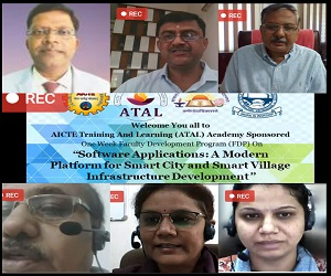 Inagural function of ATAL Sponsored FDP on Software Applications: A Modern Platform for Smart City and Smart Village Infrastructure Development
