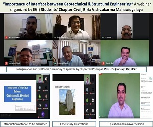 Webinar on Importance of interface between Geotechnical and Structural Engineering